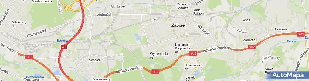 Zdjęcie satelitarne Zabrze-stadion Górnika Zabrze