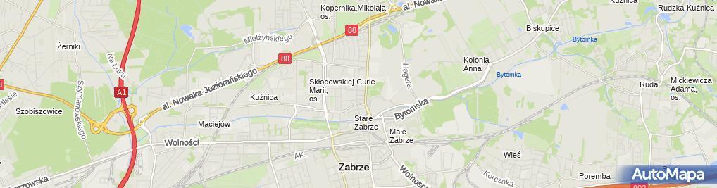 Zdjęcie satelitarne Zabrze Staszica 14 24 03 2010
