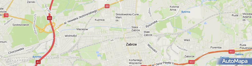 Zdjęcie satelitarne Zabrze-wolnosci01