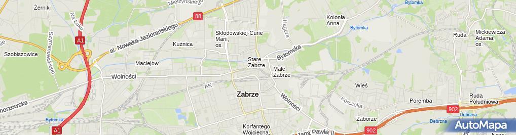 Zdjęcie satelitarne Zabrze-wolnosci02