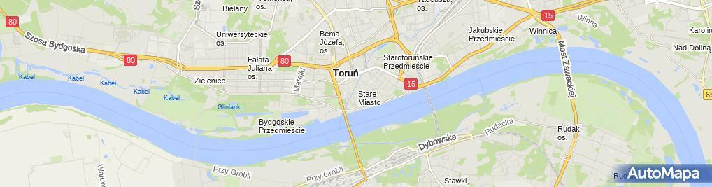 Zdjęcie satelitarne Zabytkowy tramwaj