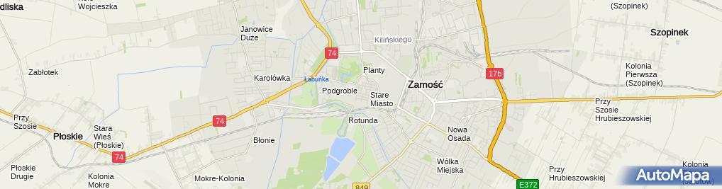 Zdjęcie satelitarne Zamosc Great Market panorama1