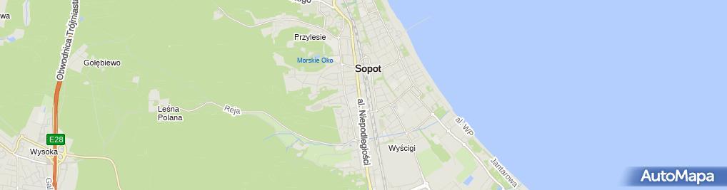 Zdjęcie satelitarne Sopockie Szkoły Autonomiczne