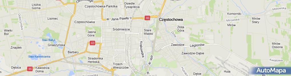 Zdjęcie satelitarne Zespół Szkół Artystycznych I Akademickich 'Ala'