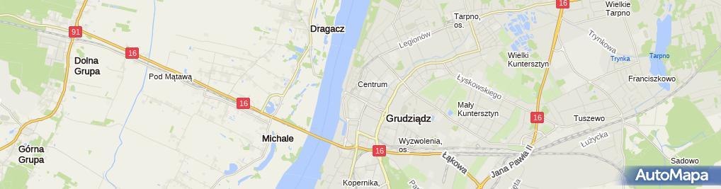 Zdjęcie satelitarne Zespół Szkół Gastronomiczno-Hotelarskich im. Marii Skłodowskiej