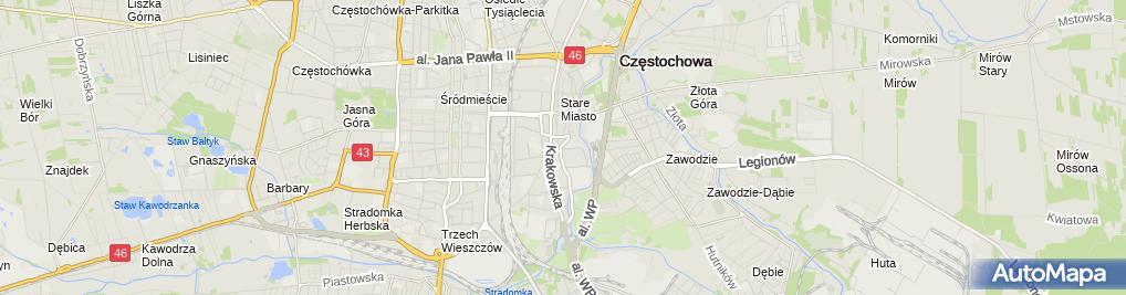 Zdjęcie satelitarne Zespół Szkół Mechaniczno-Elektrycznych Im. Kazimierza Pułaskiego