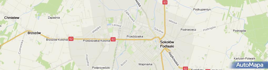 Zdjęcie satelitarne Zespół Szkół Nr 1 Im. k. k. Baczyńskiego