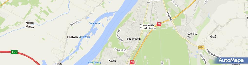 Zdjęcie satelitarne Zespół Szkół Ogólnokształcących Im. Bronisława Malinowskiego
