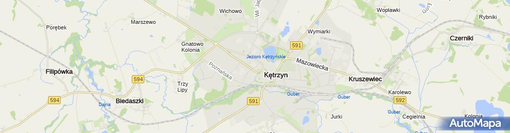 Zdjęcie satelitarne Zespół Szkół Ogólnokształcących Im. Wojciecha Kętrzyńskiego
