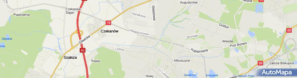 Zdjęcie satelitarne Zespół Szkół Społecznych 'Nasza Szkoła'