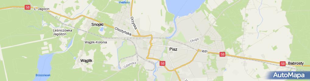 Zdjęcie satelitarne Zespół Szkół Zawodowych w Piszu