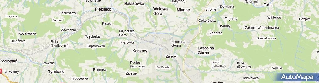 Zdjęcie satelitarne Zespół Szkolno - Przedszkolny Nr 4 Im Św. Jana Z Kęt
