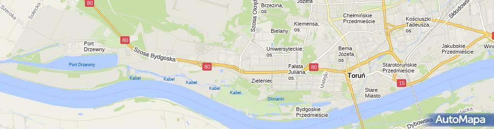 Zdjęcie satelitarne Zielona Budka - Lody
