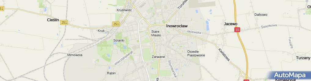 Zdjęcie satelitarne Centrum Chrześcijańskie DROGA