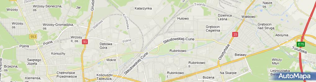 Zdjęcie satelitarne Kościół w Toruniu