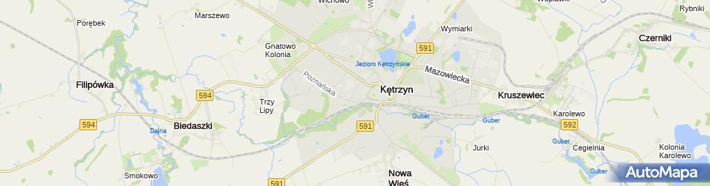 Zdjęcie satelitarne zbór Betel w Kętrzynie