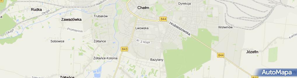 Zdjęcie satelitarne Miejski Słoneczko