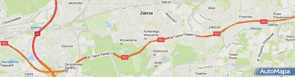 Zdjęcie satelitarne ZooKoziołek