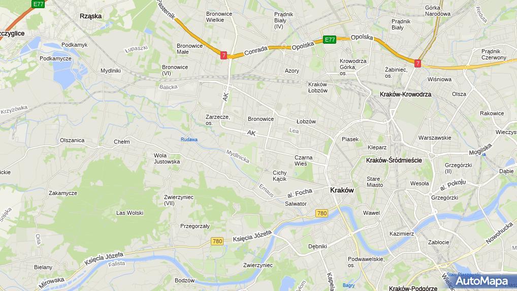 Przystanek Agh Ur Mapa Krakow Plan Komunikacji Miejskiej Mpk