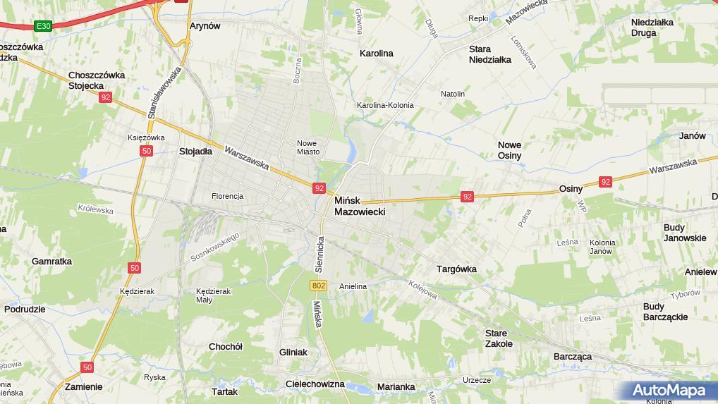 7a6200a478 Zdjęcie satelitarne Modny Pan. Modny Pan. Mapa Targeo · Mińsk Mazowiecki ...