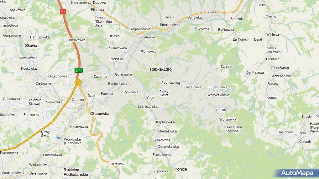 985411c224187c Zdjęcie satelitarne Śląskie Centrum Rehabilitacyjno Uzdrowiskowe im DR Adama  Szebesty w Rabce Zdroju