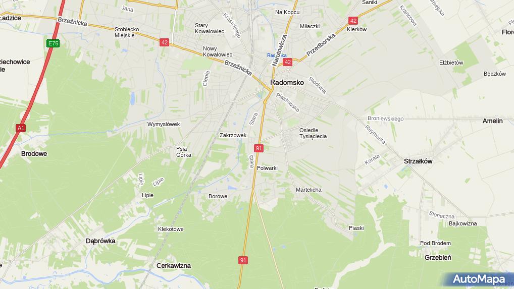 Opex Krakowska 142 Radomsko 97 500 Wulkanizacja Opony Numer