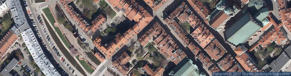 Zdjęcie satelitarne Prac Form Architektonicznych Bagiński w Kuźmiński J Witkowski K