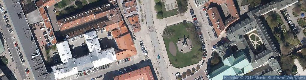 Zdjęcie satelitarne Krakowskie Przedmieście