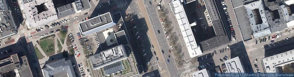 Zdjęcie satelitarne Ulica Marszałkowska - Północna część