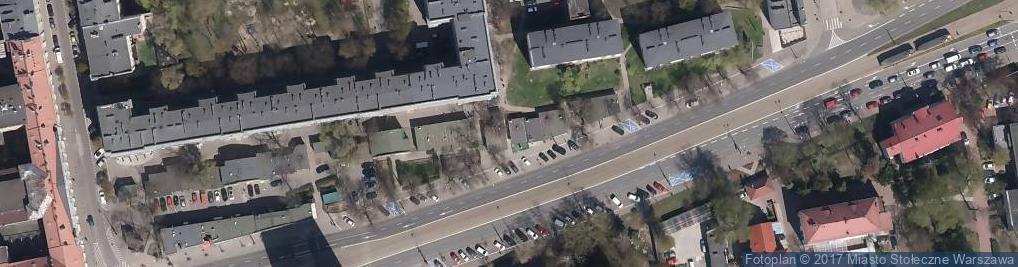 Zdjęcie satelitarne Markowa Odzież używana