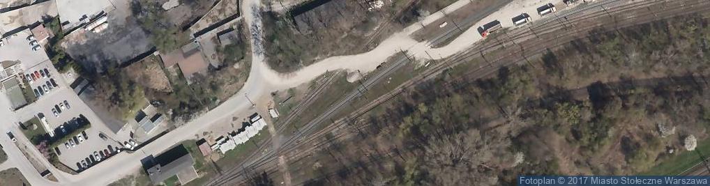 Zdjęcie satelitarne Rembet- przeładownia kruszyw