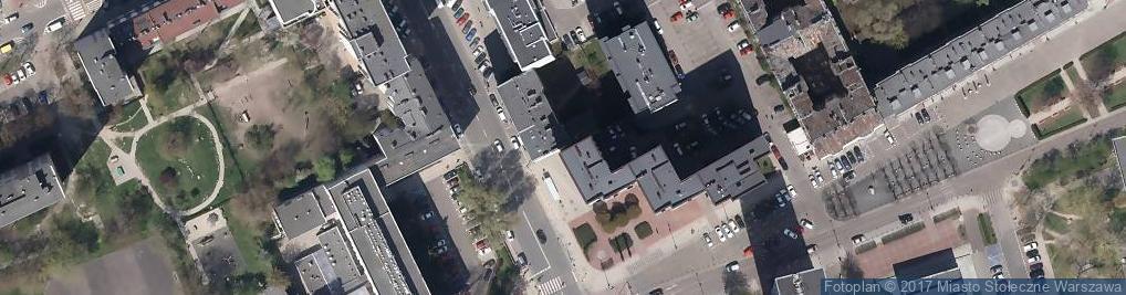 Zdjęcie satelitarne Najwęższy dom świata - Dom Kereta