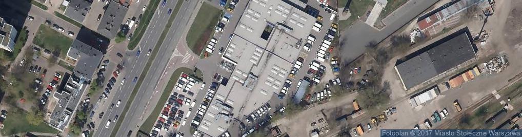 Zdjęcie satelitarne Peugeot Polska sp. z o.o. Oddział w Warszawie