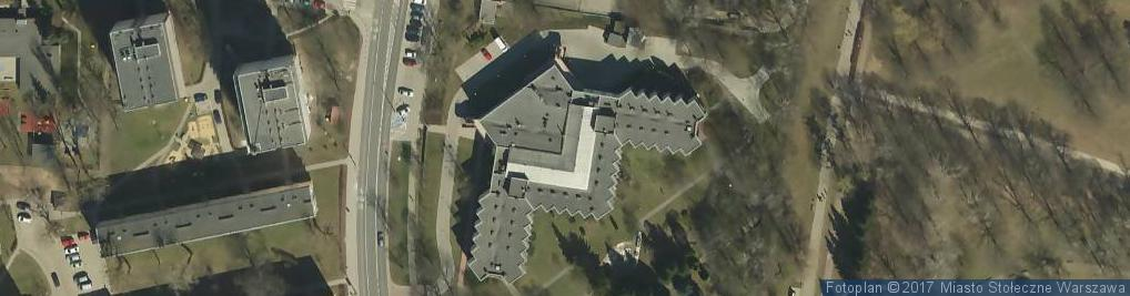 Zdjęcie satelitarne Dom Pomocy Społecznej Zasłużonego Pracownika Budownictwa