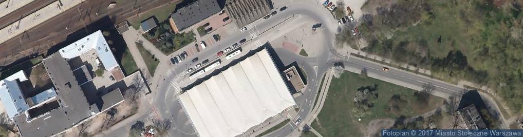 Zdjęcie satelitarne Dworzec Wschodni