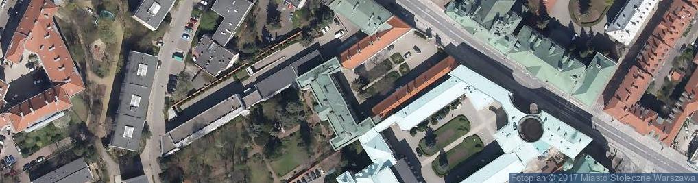 Zdjęcie satelitarne Archidiecezjalne Centrum Informacji w Warszawie