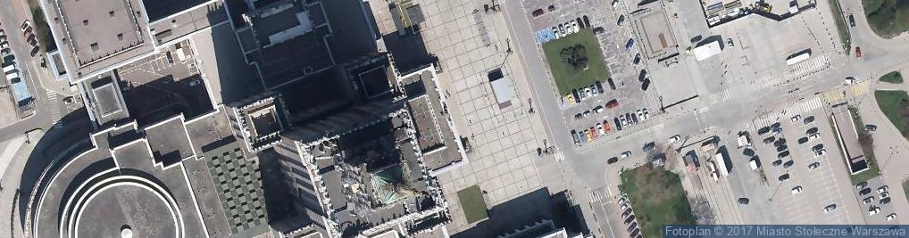 Zdjęcie satelitarne Centrum Warszawskiej Informacji Turystycznej
