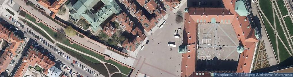 Zdjęcie satelitarne Warszawskie Centrum Informacji Turystycznej Plac Zamkowy
