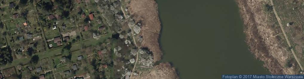Zdjęcie satelitarne Jeziorko Czerniakowskie
