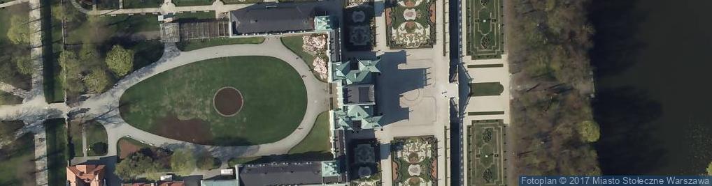 Zdjęcie satelitarne Muzeum Pałacu Króla Jana III w Wilanowie