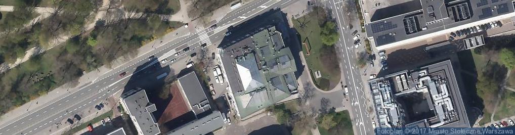 Zdjęcie satelitarne Zachęta Państwowa Galeria Sztuki
