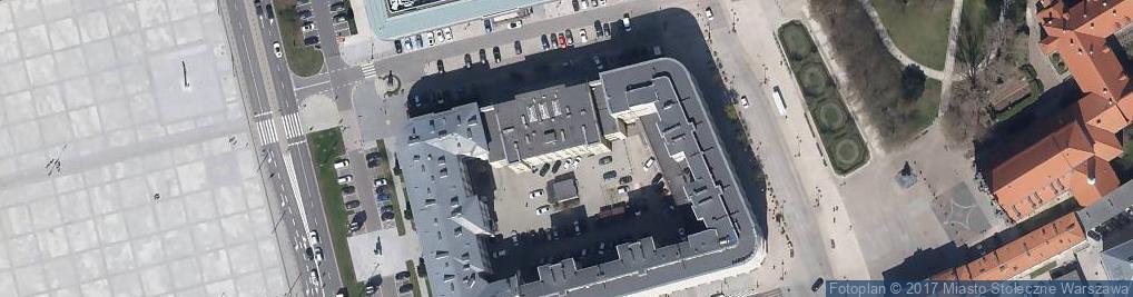 Zdjęcie satelitarne Dowództwo Garnizonu Warszawa