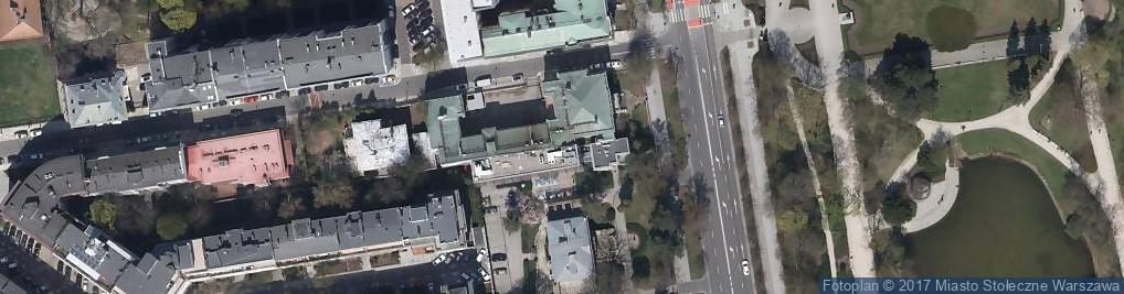 Zdjęcie satelitarne Pałac Wielopolskich