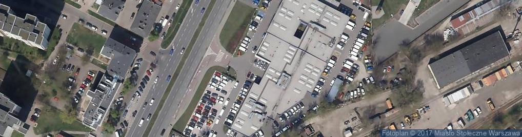 """Zdjęcie satelitarne """"PEUGEOT POLSKA"""" SP. Z O.O. ODDZIAŁ W WARSZAWIE"""
