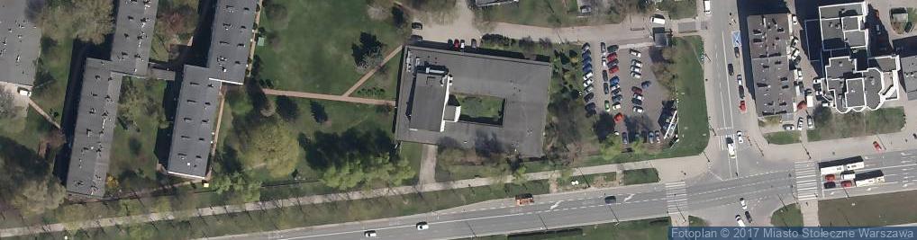 Zdjęcie satelitarne Instytut Chemii Fizycznej Polskiej Akademii Nauk