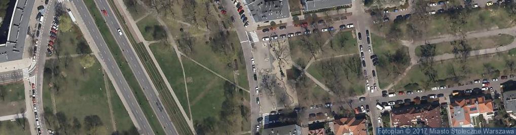 Zdjęcie satelitarne Pomnik 1 Dywizji Pancernej