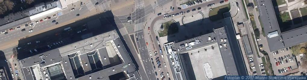 Zdjęcie satelitarne Pomnik Charles'a de Gaulle'a w Warszawie