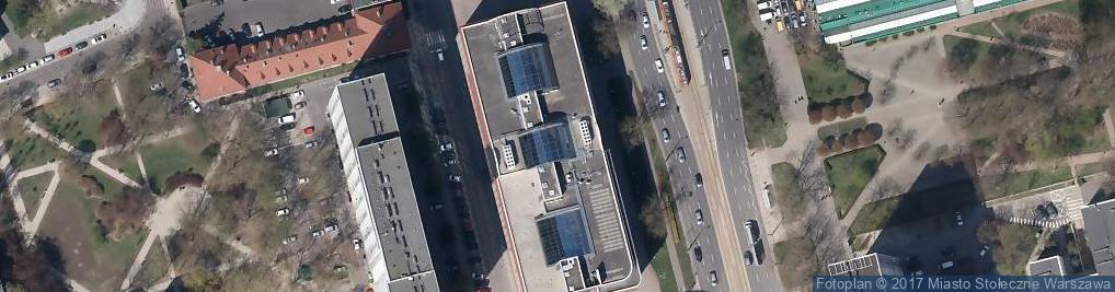 Zdjęcie satelitarne Europejskie Centrum Finansowo Gospodarcze Co
