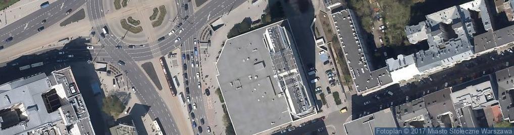 Zdjęcie satelitarne Hotel Novotel Warszawa Centrum