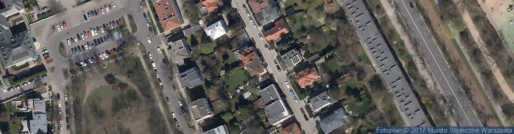 Zdjęcie satelitarne Projektowanie i Nadzory Budowlane Kordalska